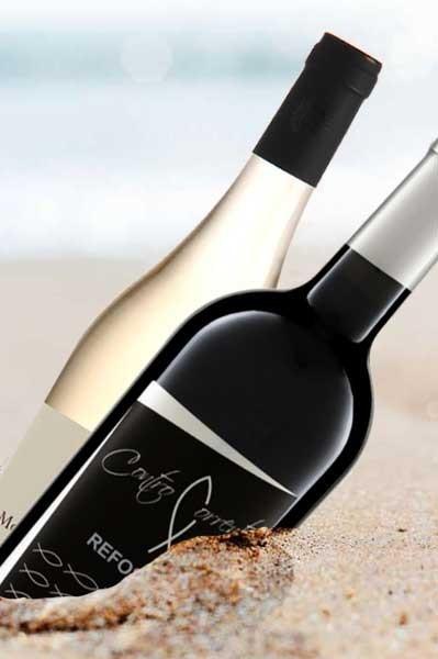 Weinabo Flaschenpost rot-weiß