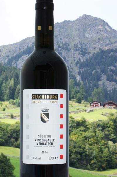 Vintschgauer Vernatsch DOC 2016 Stachlburg: leicht und trotzdem markant, leichte 10,5 % Alc.
