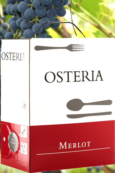 3 Liter italienischer Merlot in der Bag-In-Box